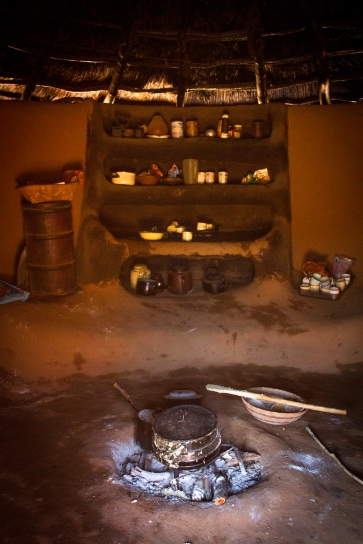 A traditional hut interior